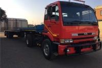 UD Flat deck NISSAN UD290 + TRAILER Truck